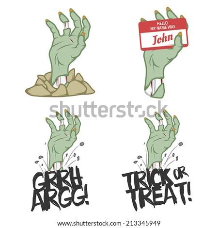funny halloween zombie hand