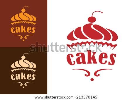 cream dessert cakes bakery logo