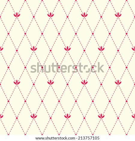 seamless geometric floral