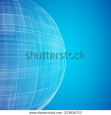 blue planet abstraction vector