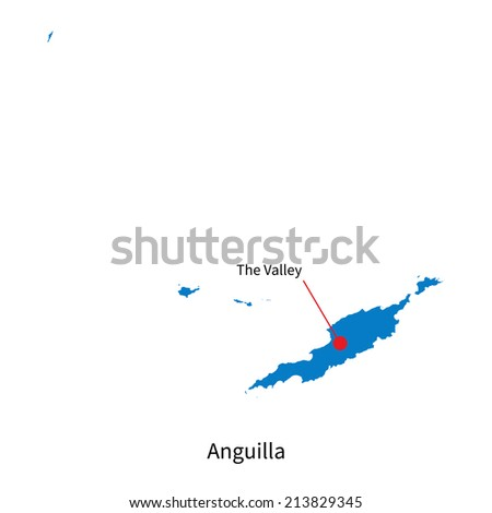 detailed vector map of anguilla
