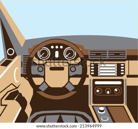 suv interior vector