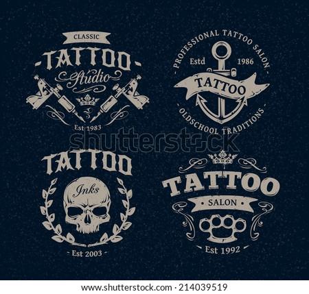 vector tattoo studio logo