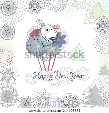 charming ewe   symbol of 2015