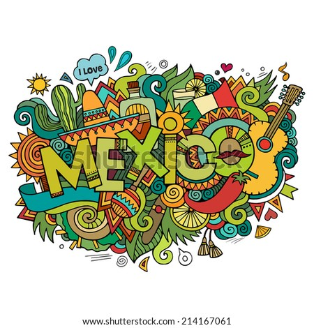 mexico hand lettering and