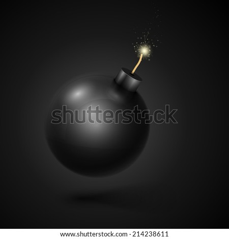 black bomb  isolated on black