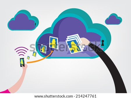 cloud hacking concept vector