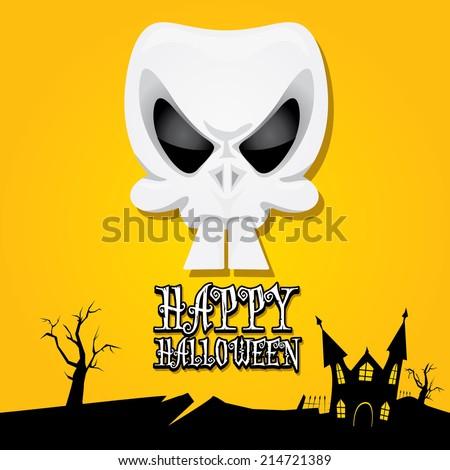vector happy halloween card