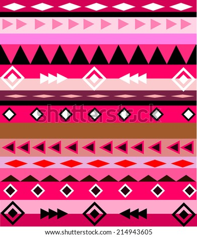 colorful aztec tribal pattern