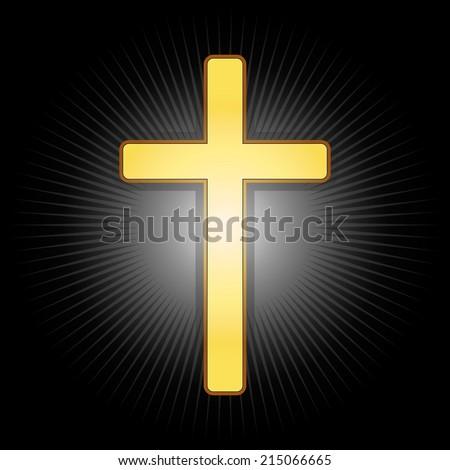 golden cross  symbol of the