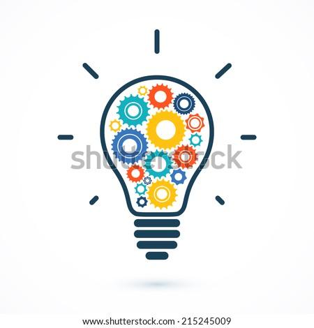 simple light bulb conceptual