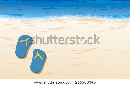 illustration of beautiful beach