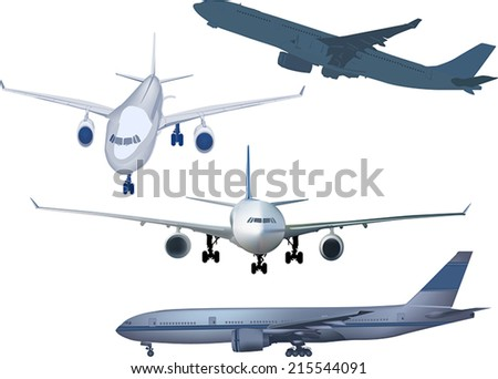 illustration with airplanes