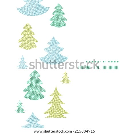 green blue christmas trees