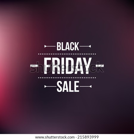 black friday sign  typographic