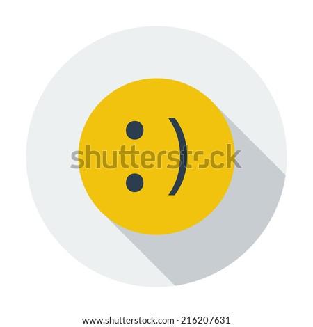 smile single flat color icon