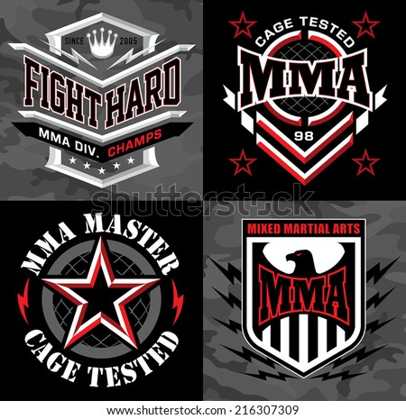 mma mixed martial arts emblem