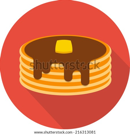 vector pancake icon