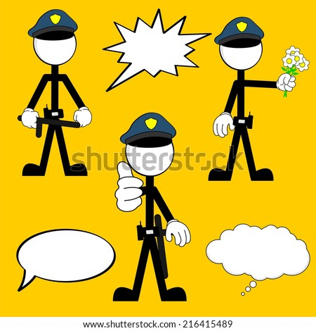 police man pictogram cartoon