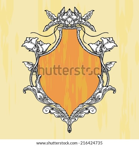 glory art nouveau shield