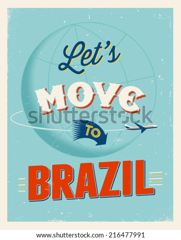 vintage traveling poster   let