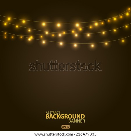 bright garlands  vector eps 10