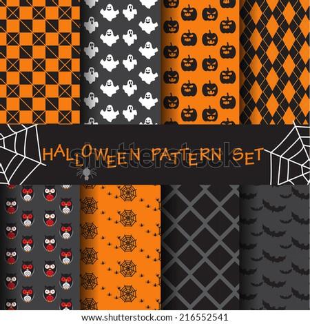 8 different halloween vector
