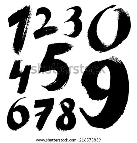 Number Names Worksheets handwriting numbers : Vector handwriting numbers free vector download (1,588 Free vector ...