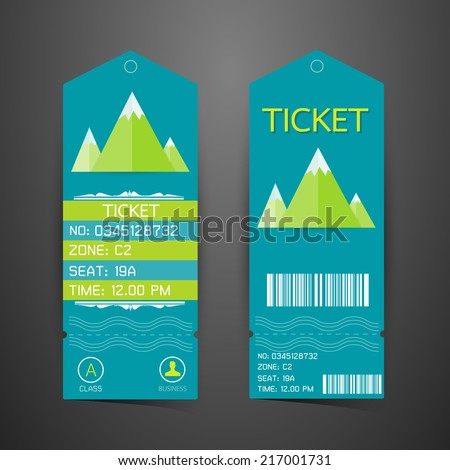 ticket design template concept