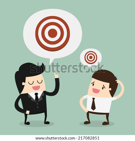 big target cartoon vector