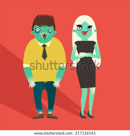 vector fashion zombies hipster