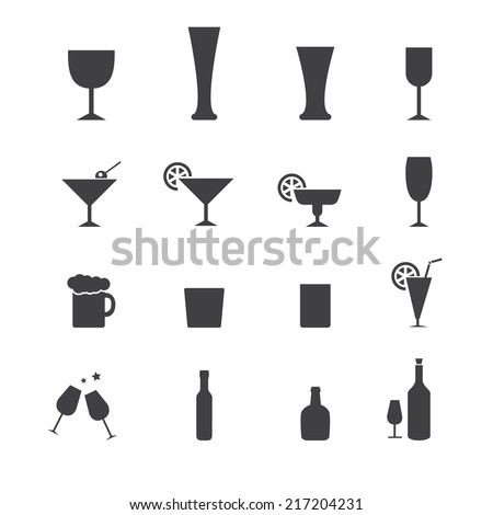 vectordrink icon set