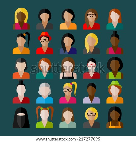 women appearance icons people