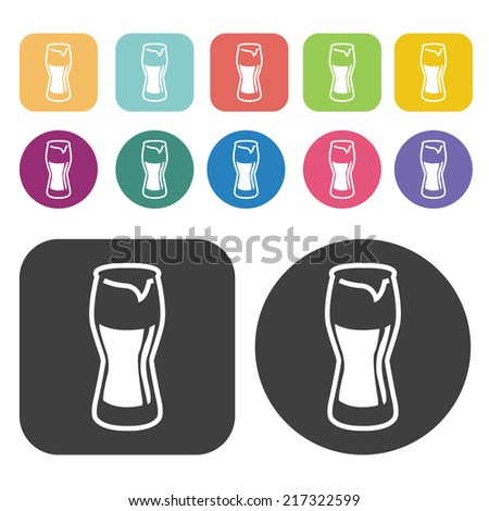 coke glass icons party beer