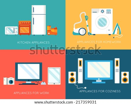 flat modern home electronics