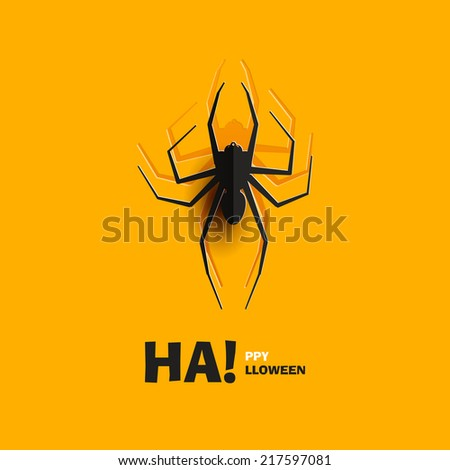 happy halloween  spider cut out