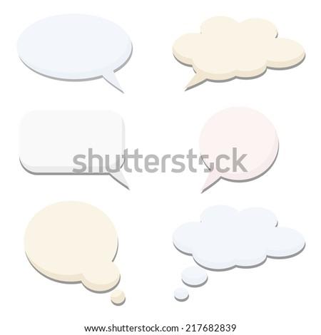 speech thought bubble set