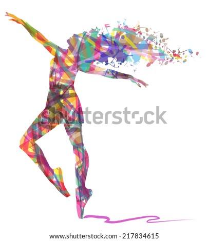 abstract dancing girl and