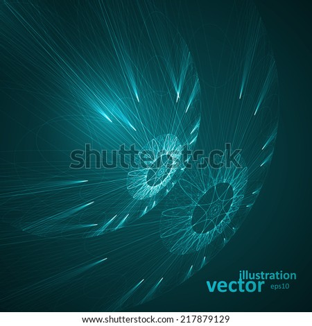 abstract technological vector