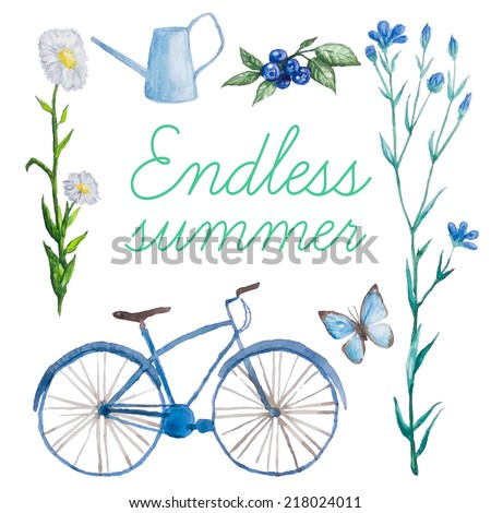endless summerwatercolor set