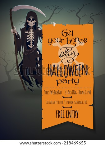 vector halloween invitation