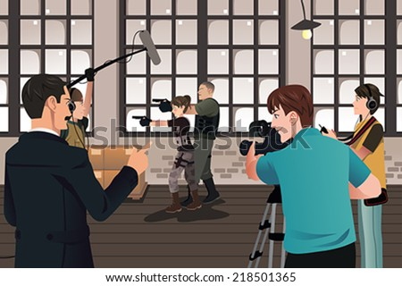 a vector illustration of movie