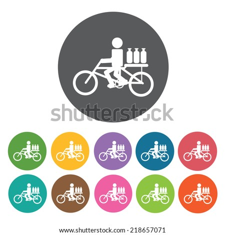 milkman bicycle delivery icon