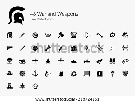 war and weapons pixel perfect
