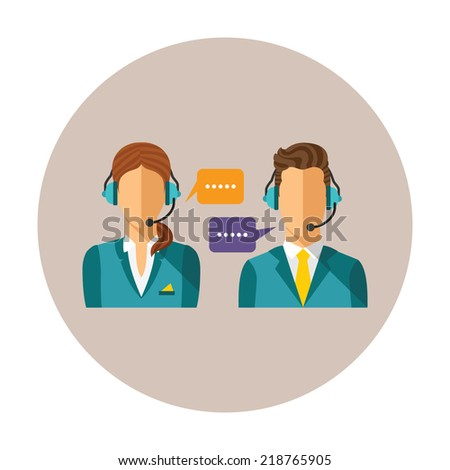 vector call center concept with