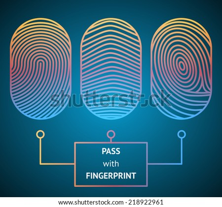fingerprint scanner with text