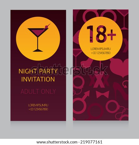 design template for night party