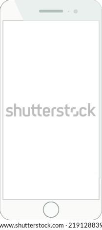 smarthpone frame vector white