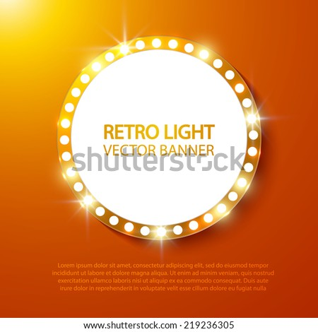 abstract retro light banner