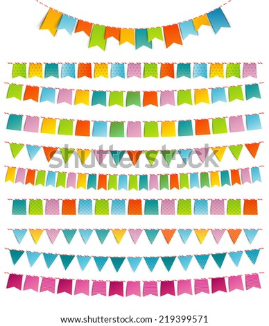 vector illustration of bunting